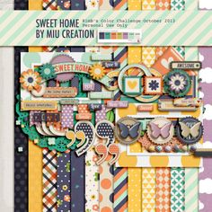 Free digital scrapbooking kit: Sweet Home from Miu Creations