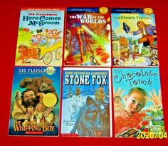 6 Chapter Books Stone Fox Whipping Boy Stepping Stones McBroom Gulliver 3rd-5th The Chocolate Touch, Stone Fox, Chapter Books, Age, Boys, Baby Boys, Guys, Sons, Young Boys
