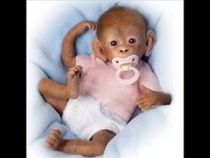 Coco So Truly Real® Lifelike, Realistic Newborn Baby Monkey Doll by The Ashton-Drake Galleries
