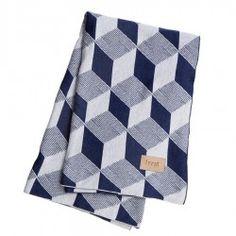Plaid en coton Bleu