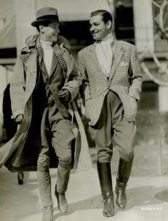 Clark Gable and Robert Montgomery
