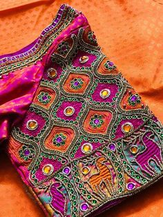 Excited to share the latest addition to my shop: Vibrantcolours - silk saree blouse Silk Saree Blouse Designs, Fancy Blouse Designs, Bridal Blouse Designs, Silk Sarees, Blouse Patterns, Stylish Blouse Design, Hand Designs, Sleeve Designs, Churidar