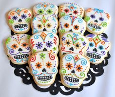 SOLD OUT - Day of the Dead Sugar Skull Cookies