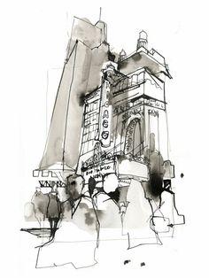 Urban sketch by Greg Betza