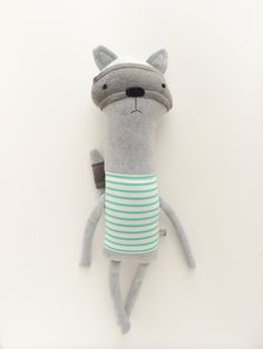 Plush Raccoon Friend Finkelstein's Center Handmade by finkelsteins, $46.00