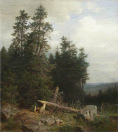 At the edge of the forest - Ivan Shishkin