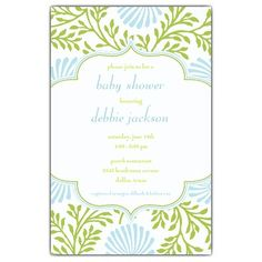 lime blue floral baby shower invitations paperstyle baby shower lime blue 350x350