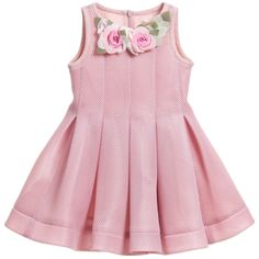 Monnalisa Dusky Pink Neoprene Style Dress at Childrensalon.com