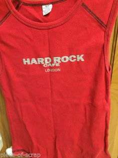 7de3c1b6 Details about HARD ROCK CAFÉ Womens Short Sleeve T Shirt MEDIUM Sleeveless  Tank Top LoNdOn