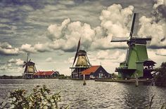 "Zaanse Schans (Netherlands) ""the windmills"" by PDBfoto (slowly for a while), via Flickr"