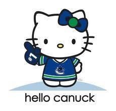 Even though it has hello kitty on it. it has Canucks on it. so its awesome! La Kings Hockey, Hello Sanrio, Believe, Hello Kitty My Melody, Hello Kitty Collection, Hockey Teams, Hockey Logos, Hockey Baby, King Baby
