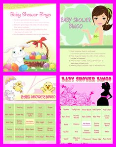 Baby Shower Bingo - Printable Baby Shower Games