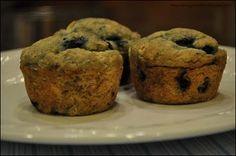 Blueberry Lemon Zest Muffins (gluten free, dairy free, egg free) - Gluten Free Diva