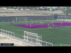 Defensive Organization + Offensive Transition GK+(4+4+2)v(3+7)+GK - CF Fuenlabrada U19 - Mario Otero - YouTube