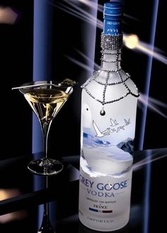Grey Goose Martinis! Remember to keep your Grey Goose chilled. I keep mine in the freezer.