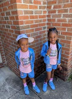 Cute Kids Fashion, Cute Outfits For Kids, Family Outfits, Baby Girl Fashion, Baby Boy Swag, Kid Swag, Cute Black Babies, Cute Little Baby, Kids Fever