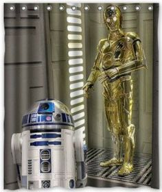 Star Wars R2-D2 And C-3PO Shower Curtain
