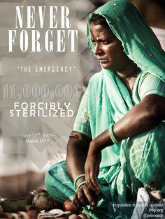 The emergency period: 11 million forcibly sterilized.