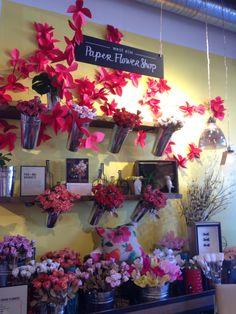 33 best store windows displays images on pinterest glass display paper flower shop west elm mightylinksfo