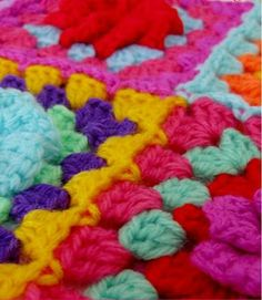 this blog entry has five ways to join granny squares- I can't wait to try them!