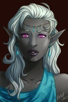 Drow Lady by Otakatt on DeviantArt Fantasy Races, Fantasy Rpg, Dark Fantasy Art, Fantasy Artwork, Elf Characters, Dungeons And Dragons Characters, Fantasy Characters, Fantasy Character Design, Character Design Inspiration