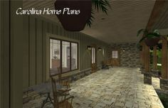 A large front porch welcomes you to this country craftsman, 3 bedroom, 3 bath house plan also with a large back screened porch Open Floor House Plans, 3d House Plans, Porch House Plans, Craftsman House Plans, Bedroom House Plans, Floor Plans, Bonus Rooms, Bedroom Layouts, Great Rooms