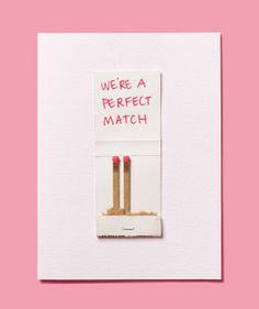 DIY Valentine's Day Card made with a matchbook. I better have a Valentine next year so I can do this. Valentine Love, Homemade Valentines, Valentine Day Crafts, Valentine Cards, Valentine Ideas, Ldr Valentines Day, Valentine Decorations, Holiday Fun, Holiday Crafts