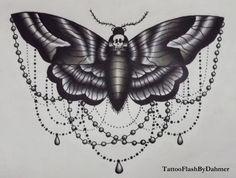 Traditional deaths head moth