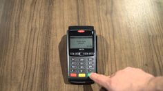 This is a Helcim video tutorial showing how to perform a keyed entry (card-not-present) sale transaction on the Ingenico Telium series terminal including - I. Credit Card Terminal, Credit Card Machine, Cards, Map