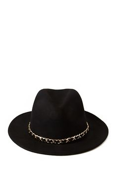 Chained Wide-Brim Fedora | FOREVER 21 - 2000067058
