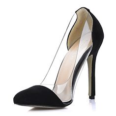Elegant Suede / Plastic Stiletto Heel Closed Toe Pumps Party / Evening Shoes – USD $ 99.99