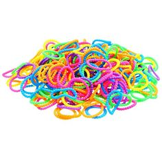 Bubble Particle Loom Bands Rainbow Colors 300 Bands/Pack: Amazon.ca: Toys & Games