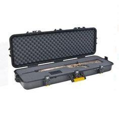 "Portable Gun Storage Case 42"" Rifle Hard Safe Lock Customize Box Carry Hunting  #Unbranded"