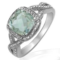 Jared - Green Amethyst Ring Sterling Silver