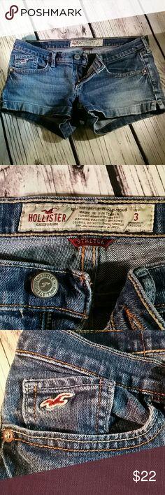 Hollister size 3 jean shorts Hollister size 3 denim low-rise jean shorts . Hollister Shorts Jean Shorts