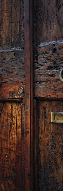 Rejuvenation Urban Farmhouse: dark wood doors