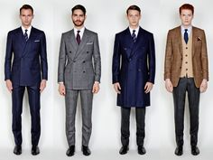 Mr Porter created a collection for the upcoming film 'Kingsman: The Secret Service,' and we attended the presentation in London. Dapper Gentleman, Gentleman Style, Kingsman Suits, Film Kingsman, Suit Fashion, Mens Fashion, British Style Men, Savile Row, Mens Style Guide
