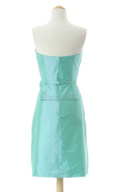 #bridesmaid Jade Taffeta Short Sweetheart Neck Bridesmaid Dress BDS-CA157
