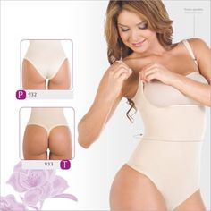 4c41262dc975a Shapewear Lycra - Nylon Body Shaper Braless Adjustables Straps.Thong type...  ShapEager