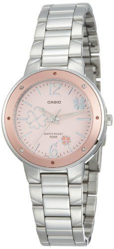 Casio Women's LTP1319D-4AV Silver Stainless-Steel Quartz Watch with Pink Dial Casio. $42.46. 50 Meters / 165 Feet / 5 ATM Water Resistant. 31mm Case Diameter. Quartz Movement. Mineral Crystal