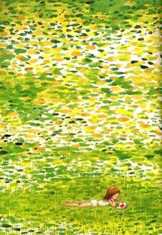 Reading: immersed in imagination / Lectura: sumergidos en la imaginación (ilustración de Jimmy Liao)