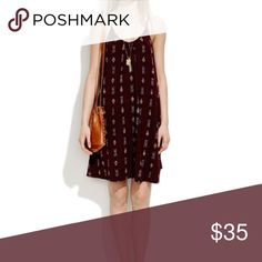 Madewell Burgundy Ikat Dress A swingy relaxed cotton dress that hits above the knee! Great belted or left loose. More photos to come! Madewell Dresses