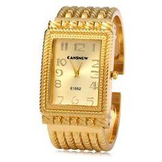 SHARE & Get it FREE | Cansnow E1552 Women Quartz Watch Golden Bracelet…