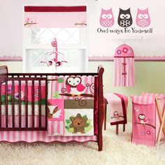 """""""Owl-ways Be Yourself"""" thing vinyl wall decals features some trendy owls in a classic phrase. See more nature themed decals for girls rooms or nurseries at www.lacybella.com"""