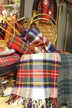 Romancing the Home plaid blanket