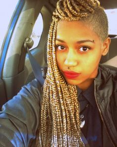 poet justice braids hairstyles with one side cut off - Google Search