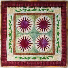 The Quilt Index 13.5 x 13.5 Miniature Quilt Patricia Styring 2006