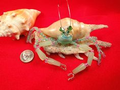 beaded hermit crab | Request a custom order and have something made just for you.