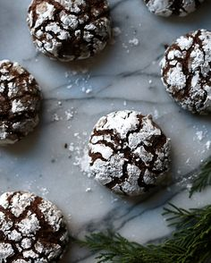 Chewy Chocolate Crinkle Cookies | Samuel and Pandora Chocolate Crinkle Cookies, Chocolate Crinkles, Fun Desserts, Awesome Desserts, Best Chocolate, Muffin, Favorite Recipes, Breakfast, Pandora