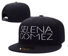 DINGZHAN Selena Gomez Logo Adjustable Snapback Embroidery Hats Caps